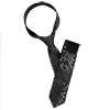 Men Black Sequin Decor Self Tie Adjustable Skinny Necktie