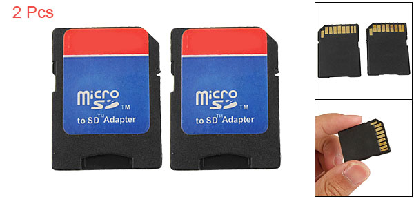 2 Pcs Micro SD TF to SD Memory Card Adapter Convertor
