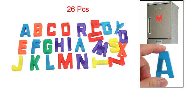 Plastic Magnetic Letters Alphabets Educational Magnet Sticker Set Colorful