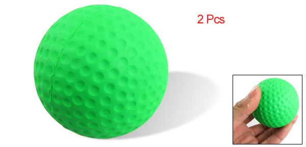 2 Pcs Professional Green Golf Ball for Sports Enthusiast