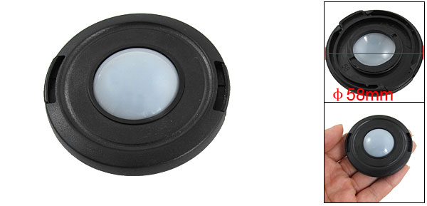 58mm Diameter Plastic White Balance DC DV Camera Lens Cap Cover