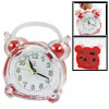 Red Clear Plastic Shell Battery Operated Desk Alarm Clock