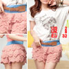 Lady Cake Tiered Pink Guipure Back Shirr Skort XS