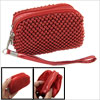 Zipper Closure Red Mini Beaded Purse Bag...