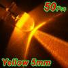 50 Pcs 5mm Round Head Yellow LED Light Emitting Diodes