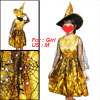 US M Sequin Accent Meshy Overlay Orange Dress Witch Costume for G...