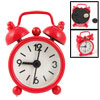 "1.6"" Round Dial Red Portable Mini Desk Alarm Clock Gift"