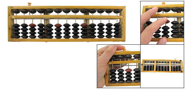 Classic Calculating Tool Wooden Frame Japanese Soroban Abacus