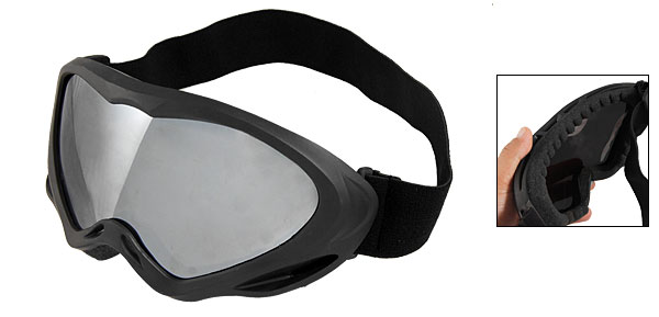 Mirror Len Black Frame Goggles Skiing Glasses for Lady Man