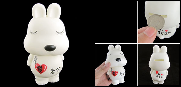 I Love Husband Cute Rabbit Piggy Bank Money Saving Box