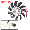 PC Black Plastic 11 Blade DC 12V 0.25A VGA Video Card Cooling Fan