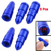 5 Pcs Blue Tire Valve Stem Cap for Car Motorcycle Bicycle