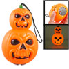Halloween Skull Style Hand Lamp w Flashing Yellow Red Light Sound...
