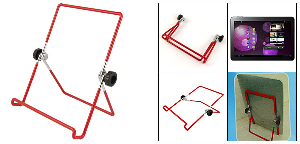 Metal Adjustable Red Holder Stand for Tablet PC