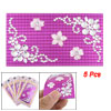 Cell Phone Plastic Crystal Floral Purple Base Sticker