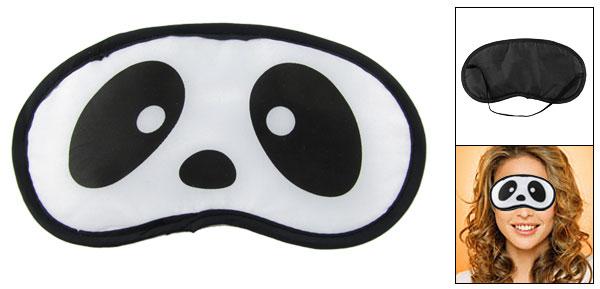 Panda Face Print Sleeping Eye Mask Patch White Black