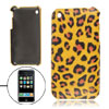 Yellow Leopard Print Faux Leather Coated Hard Plastic Back Case f...