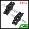 4 Pcs Mountain Bicycle Replacement Rubber Brake Pads Black