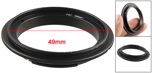 49mm Camera Reverse Macro Adapter Ring Black for Nikon