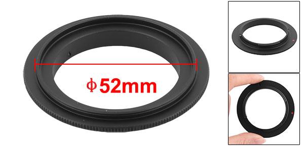 Digital SLR Camera Mount 52mm Macro Reverse Adapter Ring