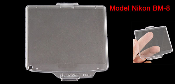 Crystal Hard Plastic LCD Screen Cover for Nikon Digital Camera BM-8