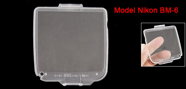 Crystal Hard Plastic LCD Protector for Nikon Digital Camera BM-6