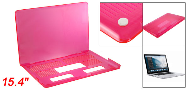 Hard Plastic Crystal Pink Protector for Apple Macbook Pro 15.4