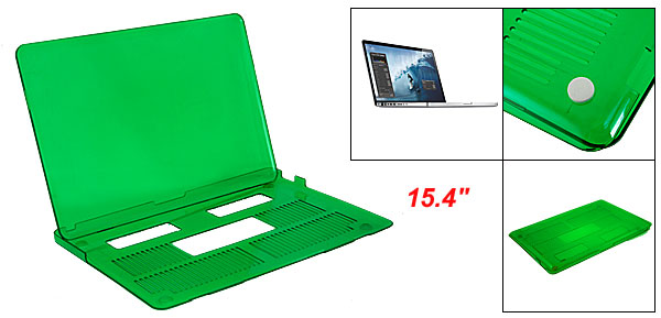 Green Crystal Hard Plastic Cover for Apple Macbook Pro 15.4