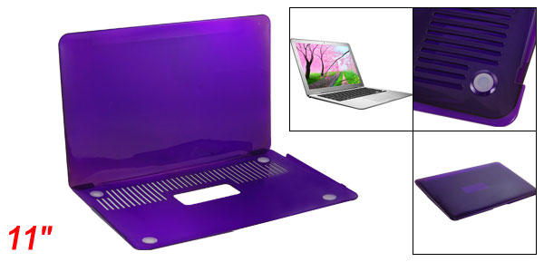 Purple Crystal Hard Plastic Protector for Apple Macbook Air 11