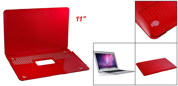 Smooth Hard Plastic Red Crystal Case for Apple Macbook Air 11
