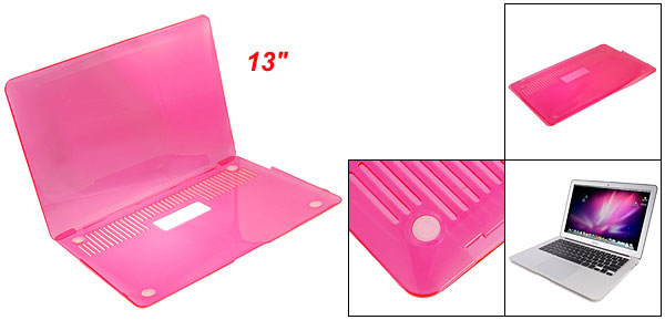 Laptop Plastic Crystal Pink Guard Cover for Apple Macbook Air 13