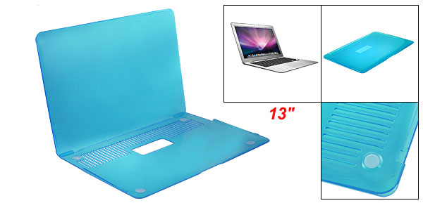 Crystal Blue Hard Plastic Protector for Aplle Macbook Air 13