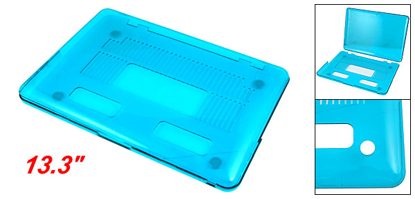Notebool Hard Plastic Cyan Crystal Protector for Apple Macbook Pro 13.3