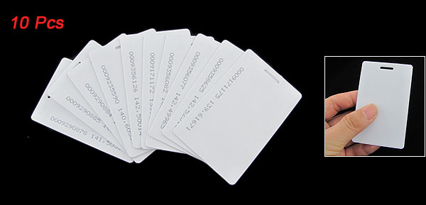10 Pcs White 125Khz 1.9mm RFID Access Proximity Card