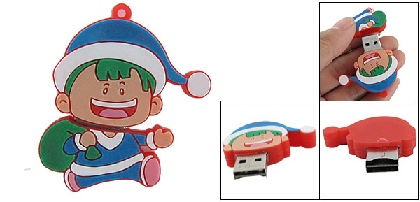 Laptop PC USB Cartoon Boy T-Flash TF Memory Card Reader