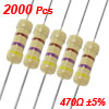 1/2W 470 Ohm 5% Axial Carbon Film Resistors 2000 Pcs
