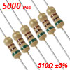5000pcs 510 Ohms OHM 1/4W 5% Axial Carbon Film Resistor