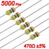 1/6W 470 Ohm 5% Axial Carbon Film Resistor Tape 5000 Pcs
