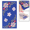 Phone MP3 Blue Base Faux Beads Inlaid Pink Flower DIY Stickers 5 ...