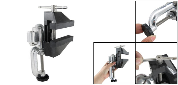 45mm Open Jaw Rotatable Handle Fixed Table Bench Vice