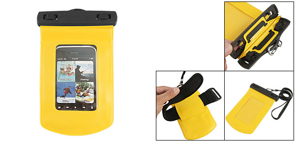 Yellow Waterproof Pouch Case + Armband For iPhone 3G 3GS 4 4G