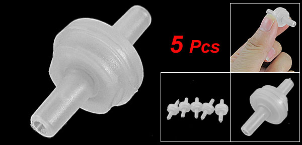 5 Pcs Plastic Check Valves for Tank Aquarium Air Pump