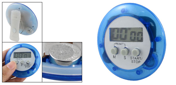 Portable Digital LCD Count Up Down Plastic Timer Alarm Blue