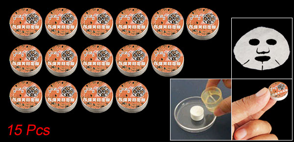 Orange Cover Compressed Facial Mask Sheet 15 Pcs for Women