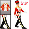 Child Queen's Guard Nutcracker Cosplay Costumes Suit M for Hallow...
