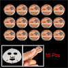 Orange Cover Compressed Facial Mask Sheet 15 Pcs for Women