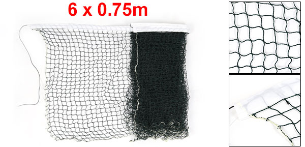 Outdoor Portable Trim Braided Nylon Mesh Badminton Training Net Green 6M Long Length