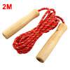 2M Length Wooden Handle Red Fitness Exercise Jumping Skipping Rop...