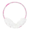 Lady Winter Plush Coated Rim Earlap Earmuffs White Pink