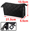 Grid Print Medium Cosmetic Organizer Bag Zipper Pouch Case Black ...